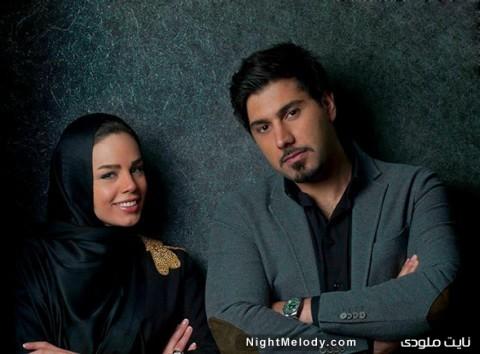 عکس های احسان خواجه امیری و همسرش لیلا ربانی