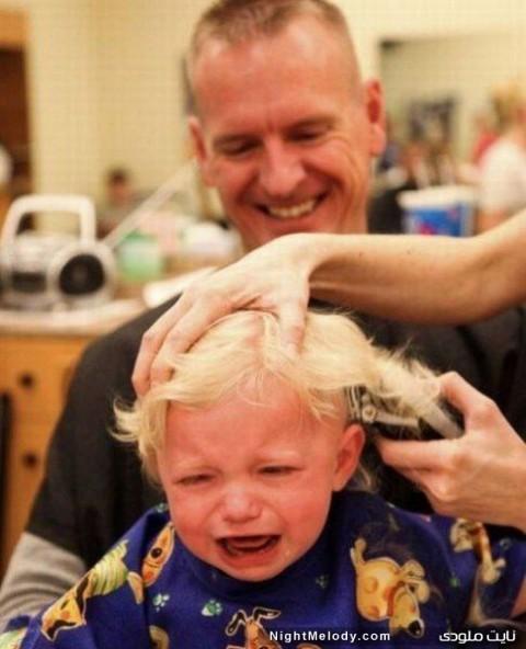 ترس کودکان از آرایشگاه