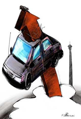 کاریکاتور قیمت خودرو