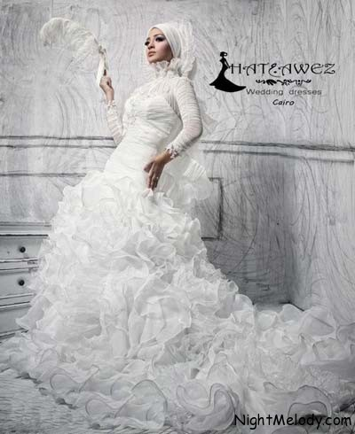 مدل لباس عروس باحجاب سال ۲۰۱۳