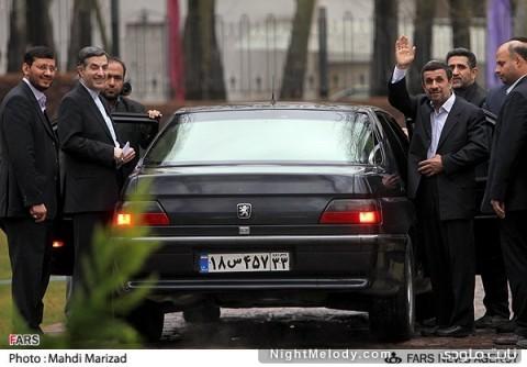 خداحافظی احمدینژاد و برادرش