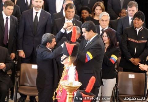 عکس های حواشی حضور احمدینژاد در تشییع چاوز