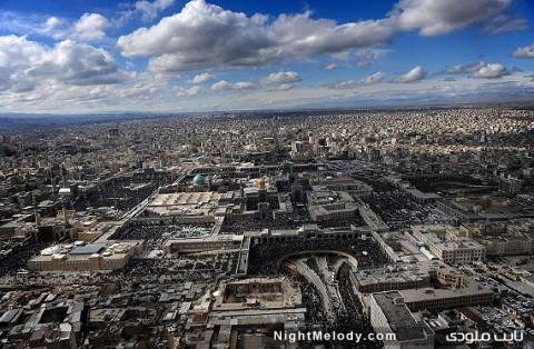 تصاویر هوایی تحویل سال حرم امامرضا(ع)