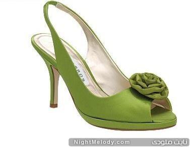 مدل کفش های زنانه رنگ سبز
