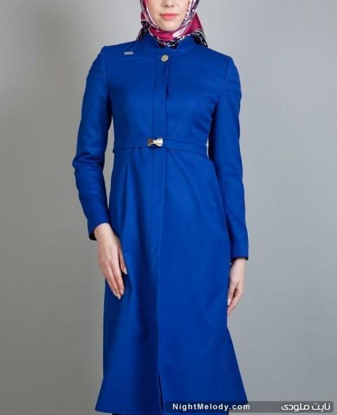 مدل مانتو رنگ آبی