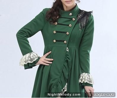 مدل مانتو رنگ سبز