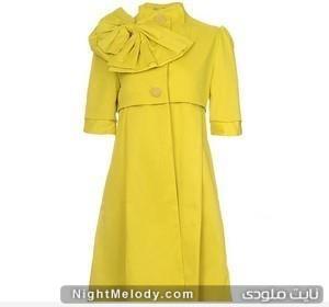 مدل مانتو رنگ زرد