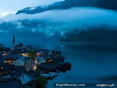 نمایی زیبا از دهکده هالستات در اتریش