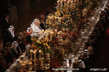 دیدار الیزابت دوم ملکه بریتانیا و امیر کویت در لندن