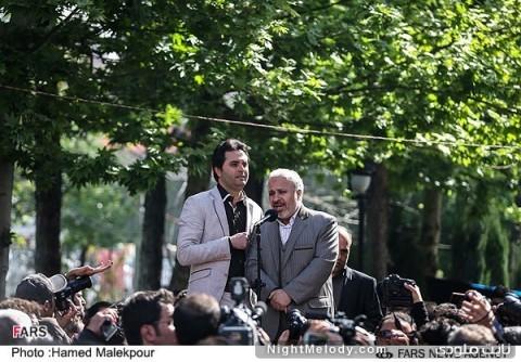 سخنرانی احمد میرعلایی مدیر عامل فارابی در مراسم تشییع پیکر عسل بدیعی