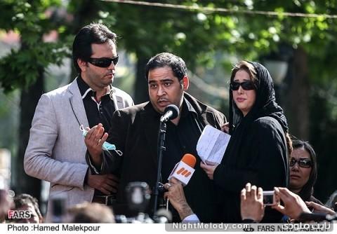 سخنرانی رضا داودنژاد در مراسم تشییع پیکر عسل بدیعی