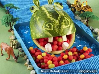 تزئین میوه به شکل حیوانات