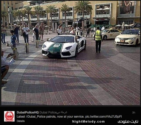 ورود لامبورگینی به ناوگان پلیس دبی