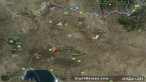 زلزله ۵٫۲ ریشتری تسوج آذربایجان شرقی ساعت ۱۵:۱۰ امروز