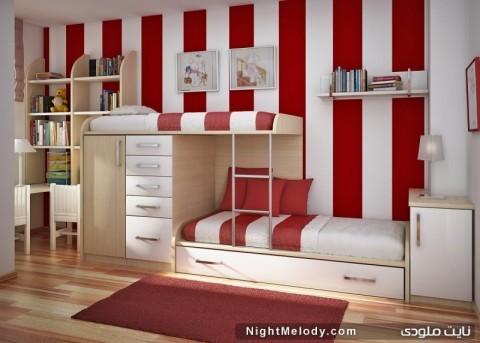 اتاق خواب دوقلو ها