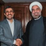 روحانی و احمدی نژاد