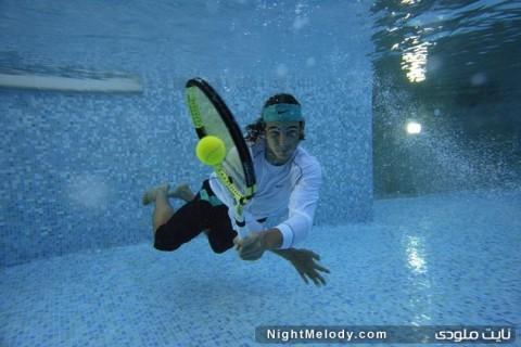 تصاویر ورزشی از زیر آب