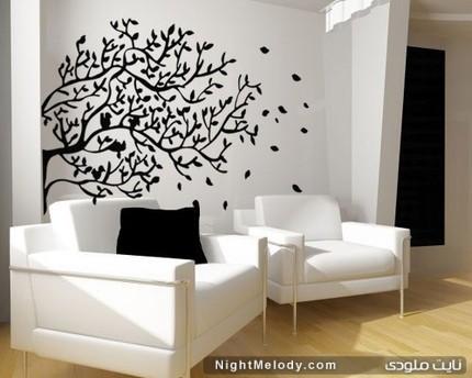 جدیدترین مدل برچسب دیواری با طرح درخت