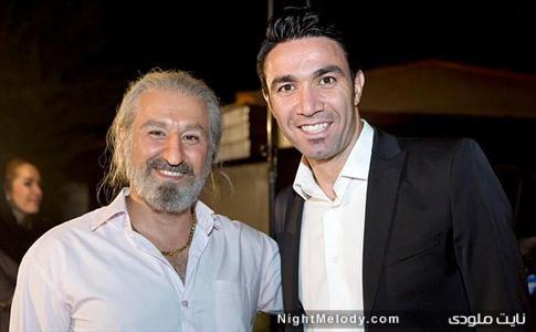 جواد نکونام در کنار بازیگر لس آنجلسی