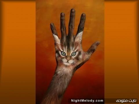 اشکال حیوانات با دست