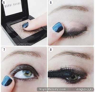 ar4 3051 آموزش آرایش چشم دودی به همراه سایه اکلیلی