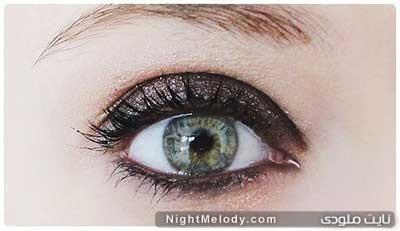 ar4 3052 آموزش آرایش چشم دودی به همراه سایه اکلیلی