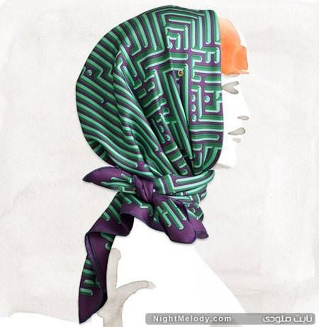 کلکسیون 2014 روسری هرمس