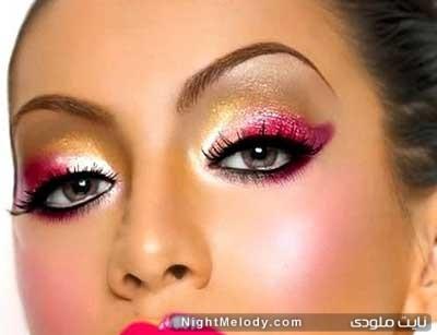آرایش چشم صورتی برای روزهای خاص