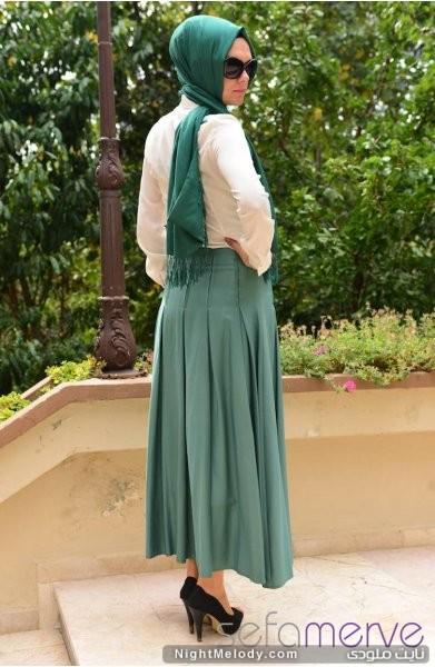 مدل های جدید دامن رنگی زنانه