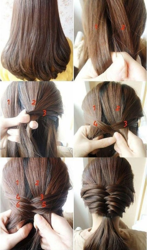 آموزش مدل موهای شیک و ساده 93
