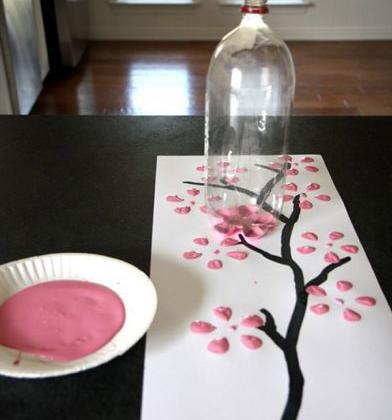 کشیدن تابلو گل به صورت خلاقانه