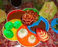 مدل های جدید تزئین سیب برای شب یلدا