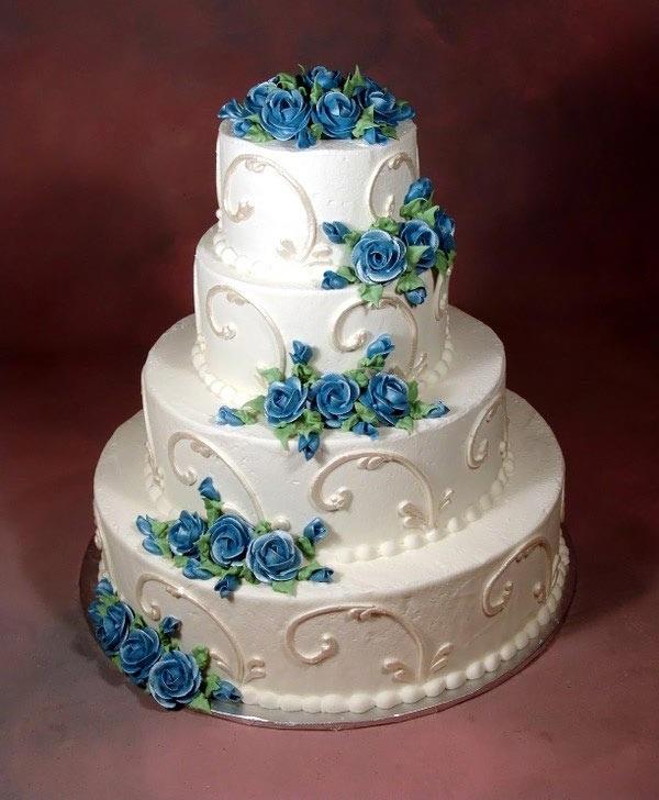 جدیدترین مدل کیک های عروسی ابی ۹۳