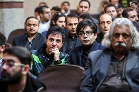 فرزاد حسنی در مراسم ختم مرتضی پاشایی