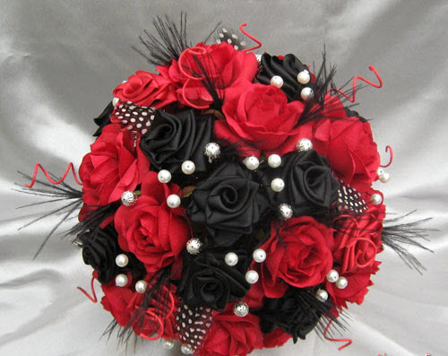 گالری دسته گل قرمز عروس