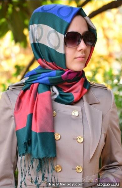 مدل های زیبا شال رنگارنگ دخترانه