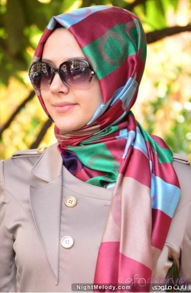 مدل های جدید شال رنگارنگ دخترانه (2)