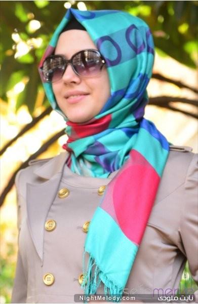 مدل های جدیدشال رنگارنگ زنانه (3)