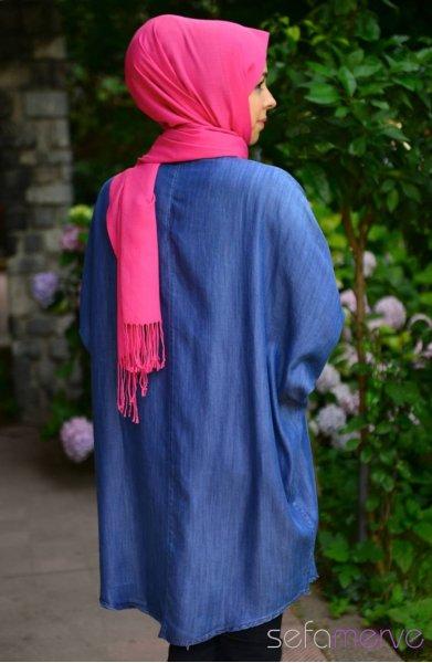 مدل تونیک آبی زنانه طرح 94