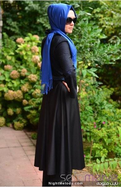 مدل مانتو مشکی زنانه (2)