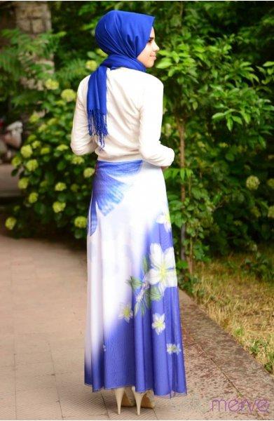 مدل دامن دخترانه طرح طبیعت