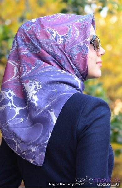 مدل های زیبا دستمال رنگی زنانه (2)