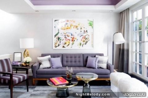 دکوراسیون منزل با رنگ بنفش