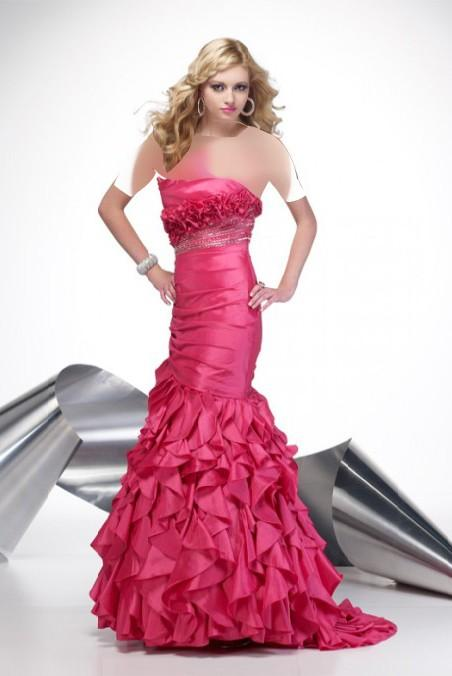لباس شب صورتی جدید