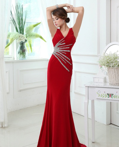 لباس شب قرمز