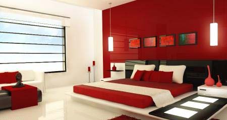 دکوراسیون خانه به رنگ قرمز
