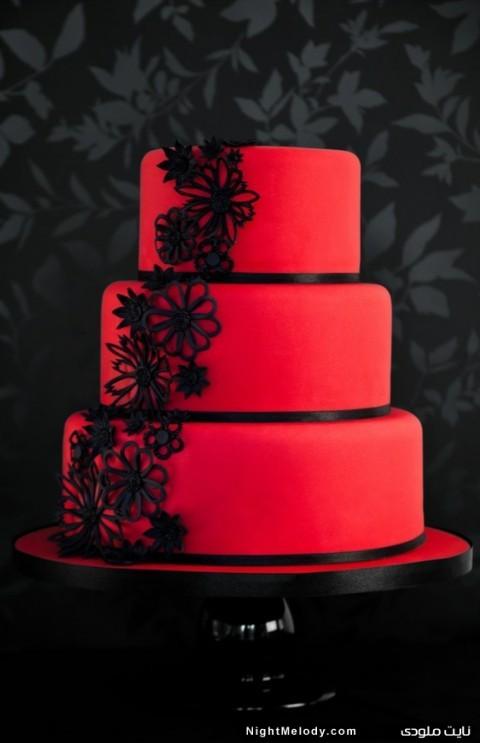 جدیدترین مدل کیک های عروسی قرمز