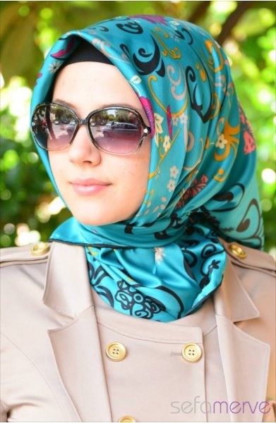 مدل های زیبا دستمال زنانه 2015
