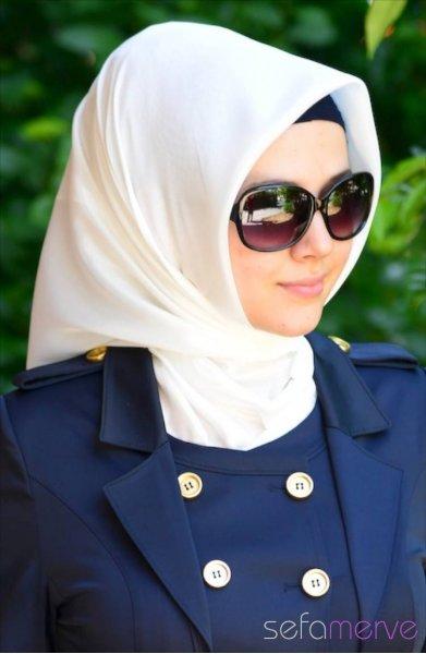 مدل های جدید حجاب زنانه رنگ سفید