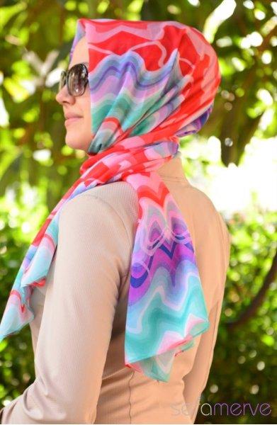 مدل های زیبا شال رنگ روشن
